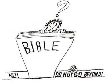 """What's in the Bible"" Pic... ""DO NOT GO BEYOND"""